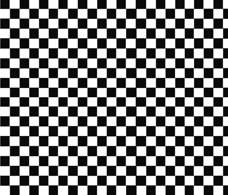 black_and_white_checkered pattern fabric by graphicdoodles on Spoonflower - custom fabric