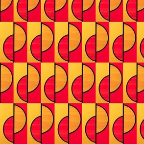 Red and gold half circles slipped by Su_G