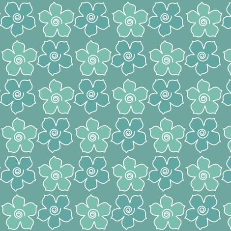 Metal_flower_field_MINAGREEN-CHEVREUL-sm fabric by mina on Spoonflower - custom fabric