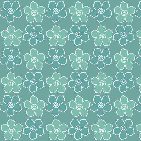 Metal_flower_field_MINAGREEN-CHEVREUL-sm fabric by mina on Spoonflower - custom fabric
