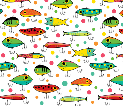 Tackle Box fabric by jennartdesigns on Spoonflower - custom fabric