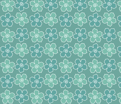 4metal_flowers_field_MINAGREEN-170_CHEVREUL-lg fabric by mina on Spoonflower - custom fabric