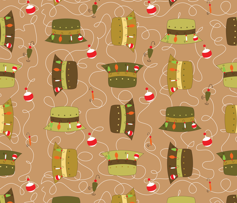 Where's-My-Fishing-Hat- fabric by writefullysew on Spoonflower - custom fabric