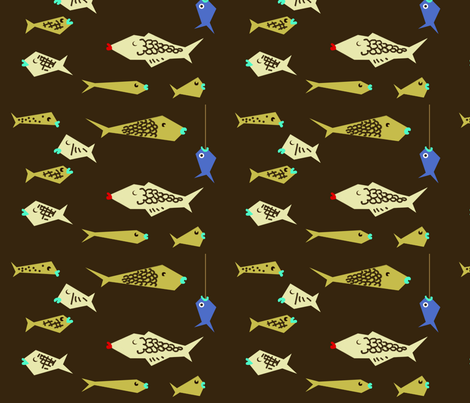 Caught Up! fabric by tidagi55 on Spoonflower - custom fabric