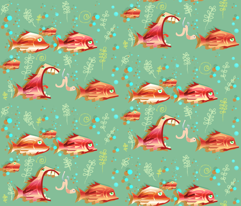 goldfish fabric by vina on Spoonflower - custom fabric