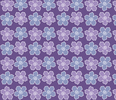 4metal_flowers_field_DEEP-VIOLET_periwinkle_CHEVREUL-lg fabric by mina on Spoonflower - custom fabric