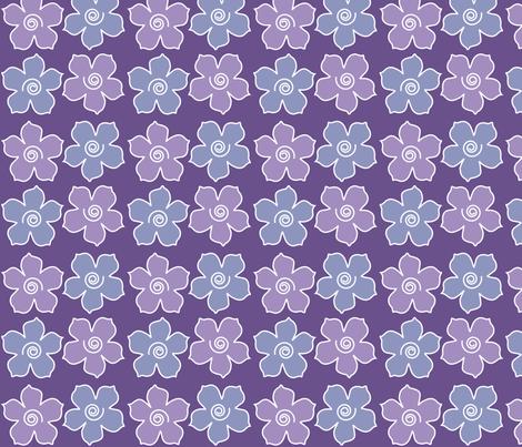 4metal_flowers_field_DEEP-VIOLET_periwinkle_CHEVREUL-lg fabric by mina on Spoonflower - custom fabric