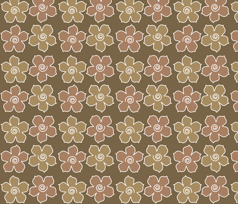 4metal_flowers_field_WARMBROWN_CHEVREUL-lg fabric by mina on Spoonflower - custom fabric