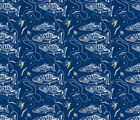 Fish view of fishing fabric by eyecontact on Spoonflower - custom fabric