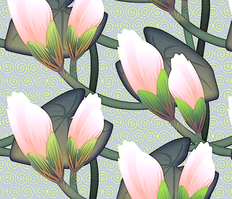 © 2011 Waterlily Grande fabric by glimmericks on Spoonflower - custom fabric