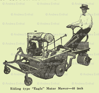Riding Lawn Mower advertisement 100 from years ago
