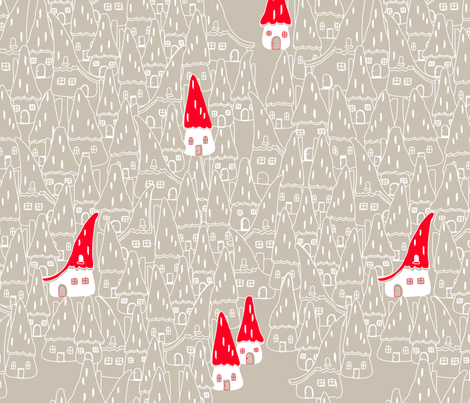 CURIOUS VILLAGE fabric by trcreative on Spoonflower - custom fabric