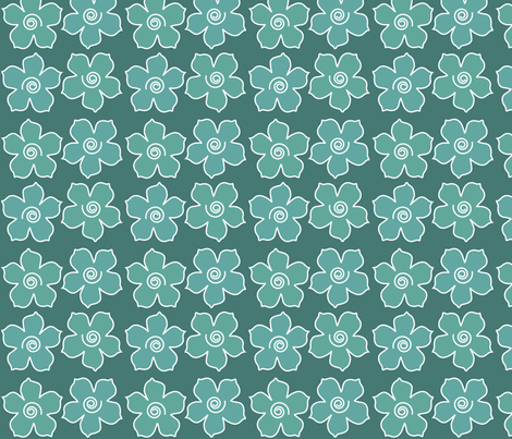 4metal_flowers_field_BLUEGREENS-175_CHEVREUL-lg fabric by mina on Spoonflower - custom fabric