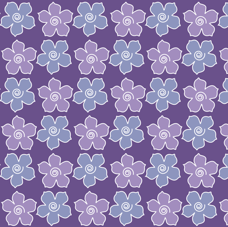 Metal_flower_field_DEEP-VIOLET-periwinkle fabric by mina on Spoonflower - custom fabric