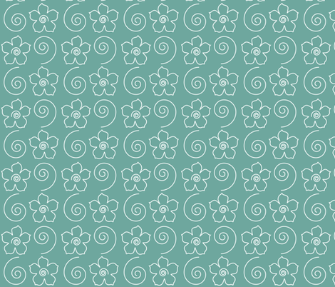 Spiral_flower_field_MINAGREEN fabric by mina on Spoonflower - custom fabric