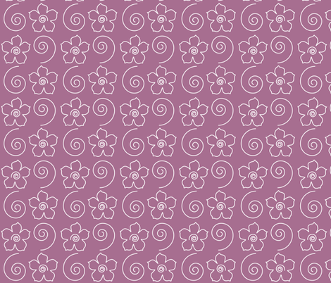 Spiral_flower_field_ROSE fabric by mina on Spoonflower - custom fabric