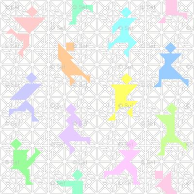12 tangrams dancing