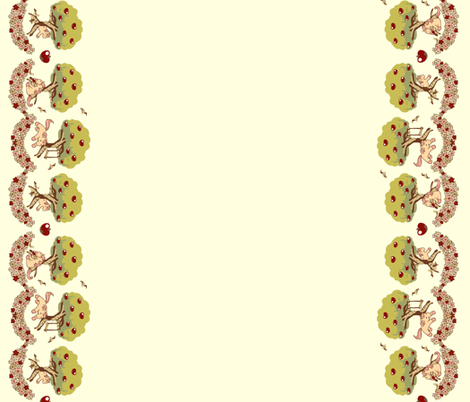 Lovely Horse Derpy Chan: Apples in Creme fabric by gabi-hime on Spoonflower - custom fabric