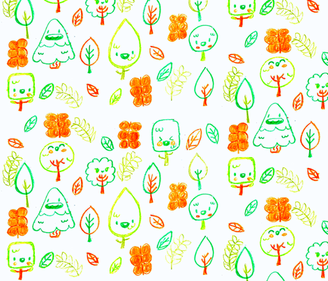 Happy Forest fabric by babybubbleco on Spoonflower - custom fabric