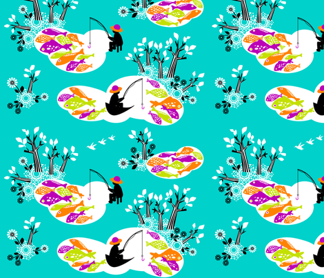 Hiding_from_the_fishermen fabric by niceandfancy on Spoonflower - custom fabric