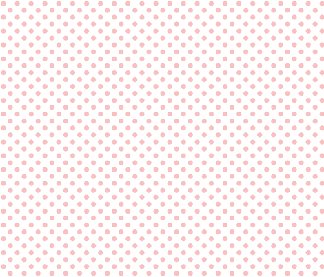 polka_dots_pink_on_white fabric by graphicdoodles on Spoonflower - custom fabric