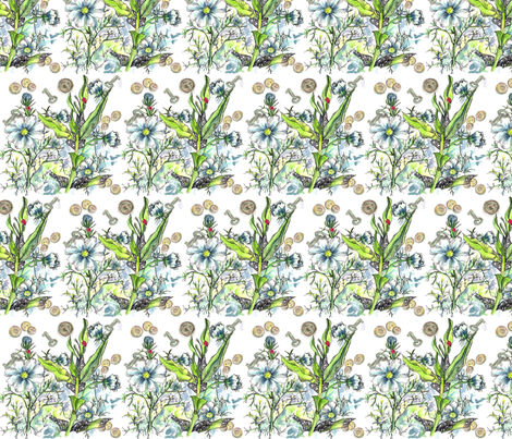 Cosmos Key fabric by countrygarden on Spoonflower - custom fabric