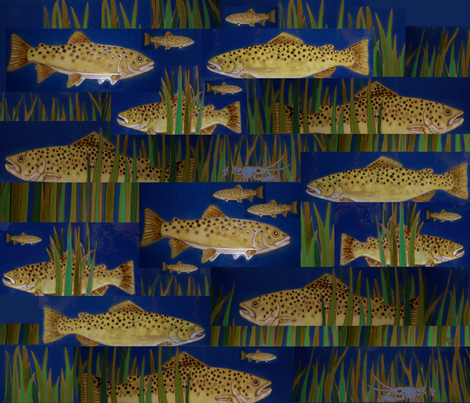 Trout Stream fabric by deerose on Spoonflower - custom fabric