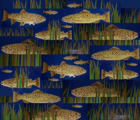 Trout Stream fabric by deerose on Spoonflower - custom fabric