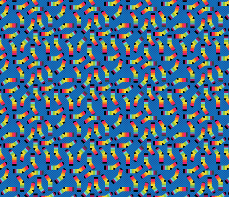 Small Rainbow Feet fabric by cynthiafrenette on Spoonflower - custom fabric
