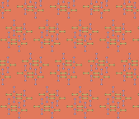 Terra-cotta Stitch fabric by david_kent_collections on Spoonflower - custom fabric