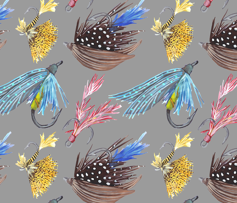 Fly Fishing fabric by lauradejong on Spoonflower - custom fabric