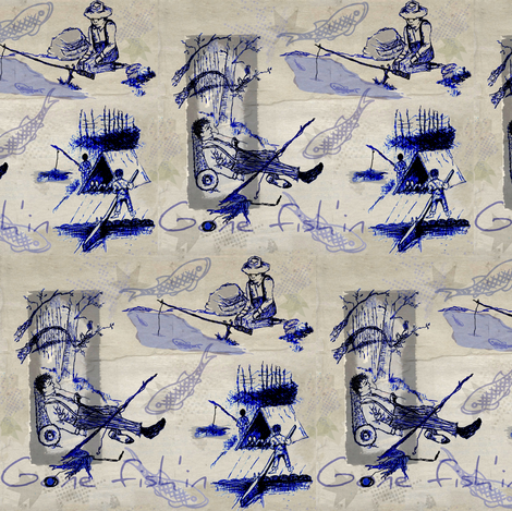 fish'in fabric by paragonstudios on Spoonflower - custom fabric
