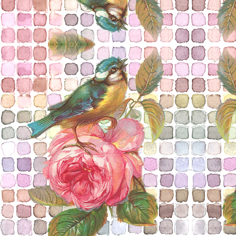 Colorful Bird fabric by peagreengirl on Spoonflower - custom fabric