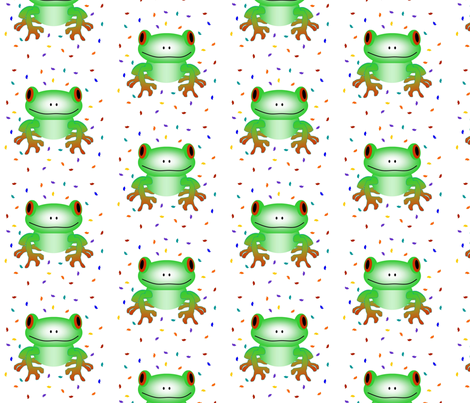 Fun Frog fabric by sewbiznes on Spoonflower - custom fabric
