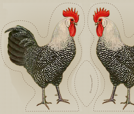 rooster pillow  fabric by littlerhodydesign on Spoonflower - custom fabric
