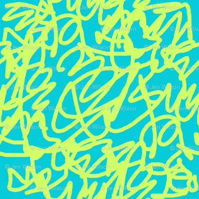 scribble green