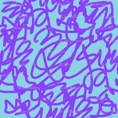 scribble purple
