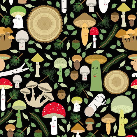 a walk in the forest fabric by heidikenney on Spoonflower - custom fabric