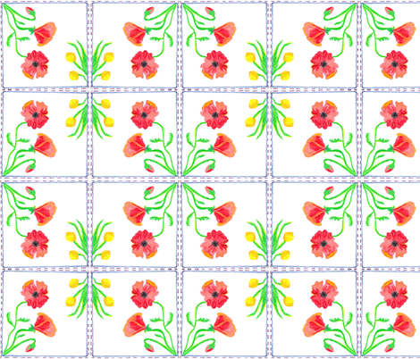 Spring Napkin fabric by liz_debellis on Spoonflower - custom fabric