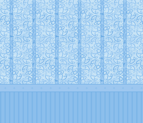 © 2011 Bird Motif Shower Curtain - Blue Ice fabric by glimmericks on Spoonflower - custom fabric