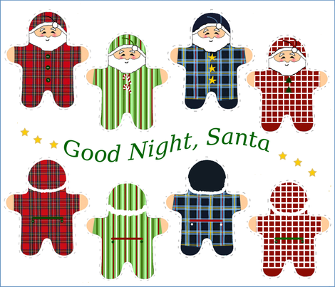 Good Night, Santa fabric by connielou on Spoonflower - custom fabric