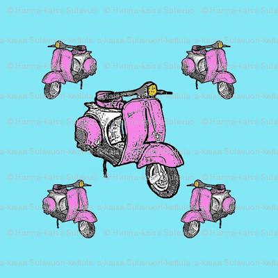 pink scooter vespa