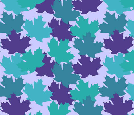blue_leaves1 fabric by slkanitz on Spoonflower - custom fabric