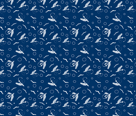fish avoiding flies fish lure fabric by eyecontact on Spoonflower - custom fabric