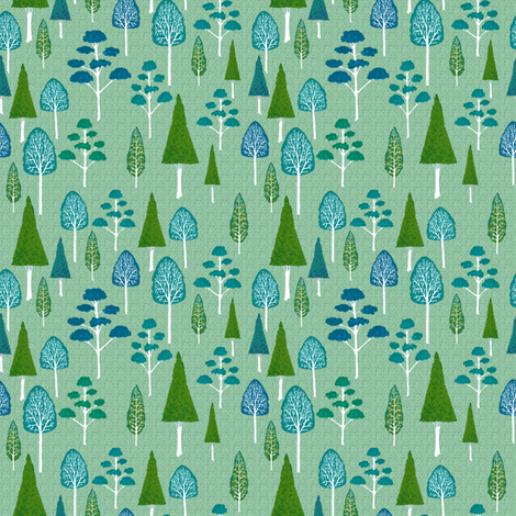 Little Trees fabric by kezia on Spoonflower - custom fabric