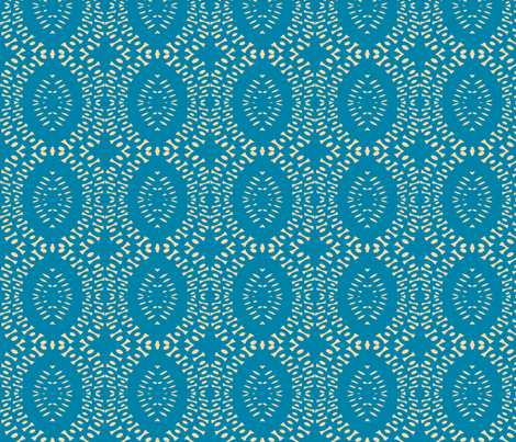 Sue Blue fabric by susaninparis on Spoonflower - custom fabric