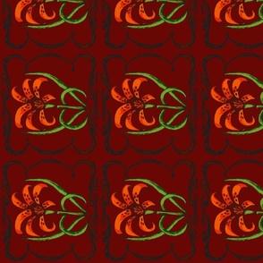brick tiger lily