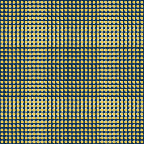 Fish roe rows - white and yellow fish eggs on navy blue  fabric by eyecontact on Spoonflower - custom fabric