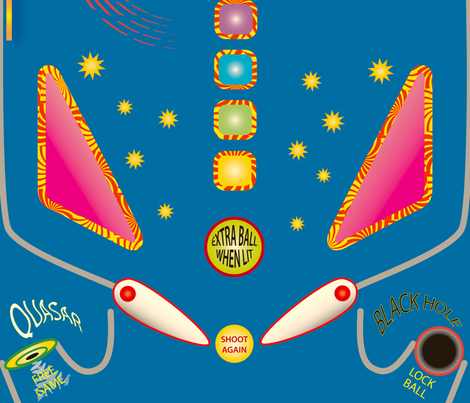 Shooting Star Pinball fabric by whatsit on Spoonflower - custom fabric