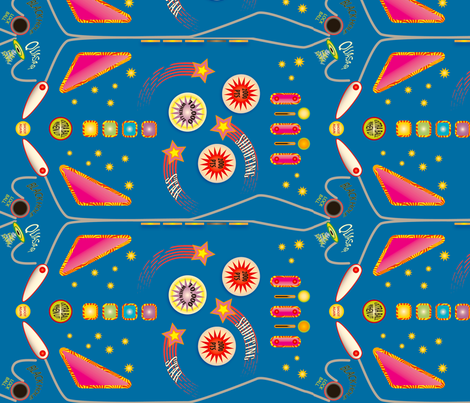 Shooting Star Pinball 2 fabric by whatsit on Spoonflower - custom fabric